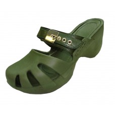 S5800L-Olive Wholesale Women's Wedge Clogs ( *Olive Color )