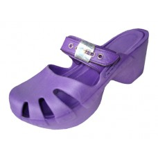 S5800L-Purple Wholesale Women's Wedge Clogs ( *Purple Color )