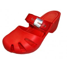 S5800L-R Wholesale Women's Wedge Clogs ( *Red Color )