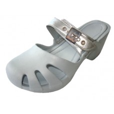 S5800L-S Wholesale Women's Wedge Clogs ( *Silver Color )