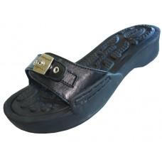 S5900L-B Wholesale Women's Slide Sandal With Buckle ( *Black Color )