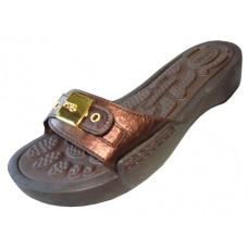 S5900L-Z Wholesale Women's Slide sandal With Buckle ( *Bronze Color )