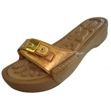 S5900L-G Wholesale Women's Slide Sandal With Buckle ( *Gold Color )