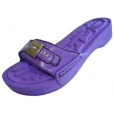 S5900L-Purple Wholesale Women's Slide Sandal With Buckle ( *Purple Color )