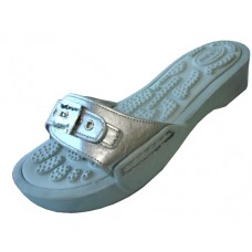 S5900L-S Wholesale women's Slide Sandal With Buckle ( *Silver Color )