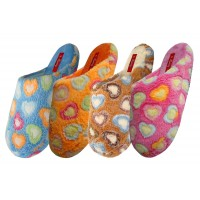 S6394-L - EasyUSA Women's Bear Fun Heart Bedroom Slipper ( *Asst. Color )
