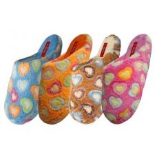 S6394-L - EasyUSA Women's Bear Fun Heart Bedroom Slipper ( *Asst. Color )