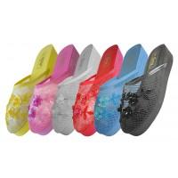 S706L-A - EasyUSA Women's Mesh Upper With Sequin Mid-Platform Comfort Slippers ( *Asst. 6 Color )