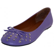 "S7100L-PURPLE - Wholesale Women's ""EasyUSA"" Studded Ballet Flats ( *Purple Color ) *Close Out $2.00/Pr Case $36.00"
