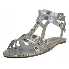 S7300L-S Wholesale Women's Stud Gladiator Sandals **Silver Color ) Closeout $2.00/Pr Case $36.00