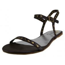 S7400L-T Wholesale Women's Ankle Strip Sandals ( *Brown Color ) *Close Out $1.50/Pr Case $27.00