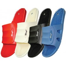 S8005-L - Wholesale EasyUSA Women's Soft Rubber Massage Slides ( *Asst. Black White Red & Blue )