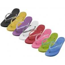 S8029-L - Wholesale EasyUSA Women's Soft Comfort Thong Flip Flops ( *Asst. 8 Colors )