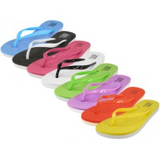 "S8039L-A - Wholesale Women's ""EasyUSA"" Soft Comfort Rubber Flip Flops ( *Asst. 8 Colors )"
