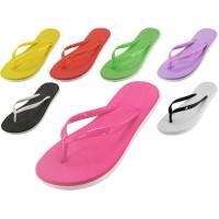 S8039L-A - Wholesale Women's Soft Jelly Rubber Flip Flops ( *Asst. Color )