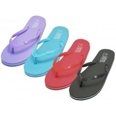 "S8069L-A - Wholesale Women's ""EasyUSA"" Soft Comfortable Rubber ZorI / Flip Flops ( *Asst. Black White Red & Blue )"