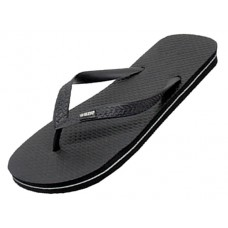"S8069M-BB Wholesale Men's ""EasyUSA"" Soft Comfortable Rubber Thong ZorI / Flip Flop ( *Black Color ) *Available In Single Size M-XL"