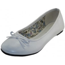 S8500L-W Wholesale Women's Ballerina Shoes ( *White Color )