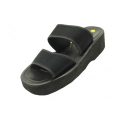 "S8668L-BB - Wholesale Women's ""EasyUSA"" Two Elastic Strip A Cross Platform Sandals (Closeout $1.25/Pr Case $30.00)"