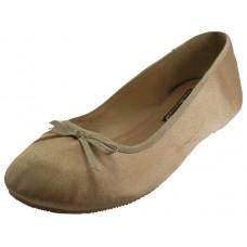 """S9500L-G Wholesale Women's """"EasyUSA"""" Satin Ballet Flat Shoes ( * Gold Color )"""