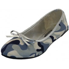 S9800L-Gray Wholesale Women's Camouflage Ballerina Shoes ( *Gray Color )