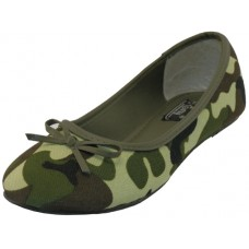 S9800L-Green Wholesale Women's Camouflage Ballerina Shoes ( *Green Color ) *Last Case