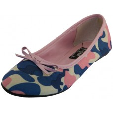 S9800L-P Wholesale Women's Camouflage Ballet Flats ( *Pink Color )