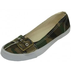 SS0520 - Wholesale Women's Canvas Shoes  *Camouflage