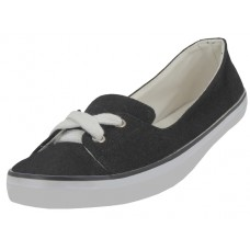 "SS0580L-B Wholesale Women's ""EasyUSA"" Lace Up Canvas Shoe ( *Black Color )"