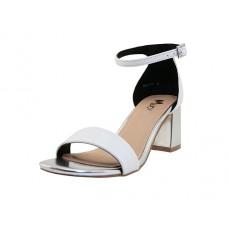 "SALLY-01-WHITE Wholesale Women's ""Angeles Shoes"" High Heel Sandal With Ankle Strip ( *White Color ) *Last Case"