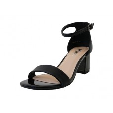 "SALLY-01-BK Wholesale Women's ""Angeles Shoes"" High Heel Sandal With Ankle Strip ( *Black Color ) *Last 2 Case"