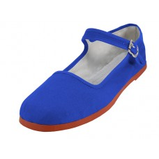 "T2-114L-ROYAL Wholesale Women's ""EasyUSA"" Classic Cotton Upper Mary Janes Shoe ( *Royal Blue Color )"