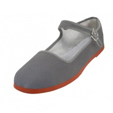 "T2-114L-Gray Wholesale Women's ""EasyUSA"" Classic Cotton Upper Mary Janes Shoe ( *Gray Color )"