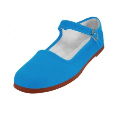 "T2-114L-Q Wholesale Women's ""EasyUSA"" Classic Cotton Upper Mary Jane Shoes ( *Turquoise Color ) *Available In Single Size"