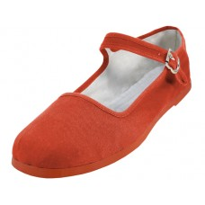 T2-114L-Spice Orange Wholesale Women's Classic Cotton Upper Mary Janes Shoe ( *Spice Orange Color ) *Last 2 Cases