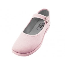 "T2-115L-P Wholesale Women's ""EasyUSA"" Cotton Upper Mary Janes Shoes ( *Pink Color )"