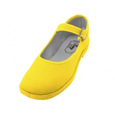"T2-115L-Y Wholesale Women's ""EasyUSA"" Cotton Upper Mary Janes Shoe ( *Yellow Color )"