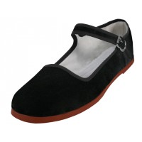 T2-118-B Wholesale Women's Claasic Velvet Upper Mary Janes Shoe ( *Black Color ) *Available In Single Size