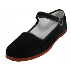"T2-118L-B Wholesale Women's ""EasyUSA"" Claasic Velvet Upper Mary Jane Shoes ( *Black Color ) *Available In Single Size"