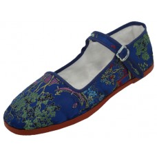 T2-119L-N Wholesale Women's Brocade Upper Mary jane Shoe ( *Navy Color )