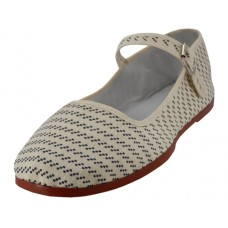T5-1122 - Wholesale Women's Printed Classic Cotton Mary Janes Shoe