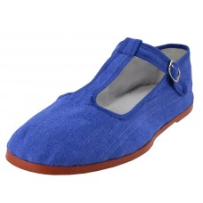 T5-777-Royal - Wholesale Women's T-trap ClassicCotton Upper Linen Mary Janes Shoe ( *Royal Blue Color ) *Last 4 Case