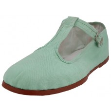 T5-777-AQUA -  Wholesale Women's T-Strap Cotton Upper Classic Mary Jane Shoes ( *Aqua Mint ) *Last 3 Case