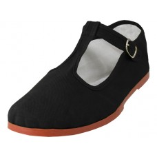 T5-777-B - Wholesale Women's T-trap Classic Cotton Upper Mary Janes Shoe ( *Black Color )