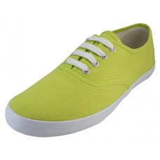 U324L-LIME Wholesale Women's Casual Canvas Upper Lace Up Shoe ( *Lime Color )