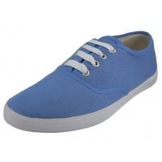 U324L-BLUE Wholesale Women's Casual Canvas Lace Up Shoe ( *Blue Color )