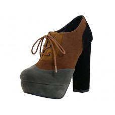 "VIVIAN-BROWN Wholesale Women's ""Angeles Shoes"" Hi-Heel Lace Up Shoe ( *Brown Color ) *Last 3 Case"