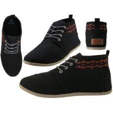 """W010001L-B Wholesale Women's """"EasyUSA"""" Hi-Top Canvas Shoes ( *Black Color ) *Last 5 Case"""