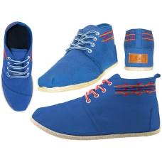 """W010001L-N - Wholesale Women's """"EasyUSA"""" Hi-Top Canvas Shoes ( *Navy Color )"""