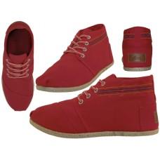 """W010001L-R Wholesale Women's """"EasyUSA"""" Hi-Top Canvas Shoes ( *Red Color )"""